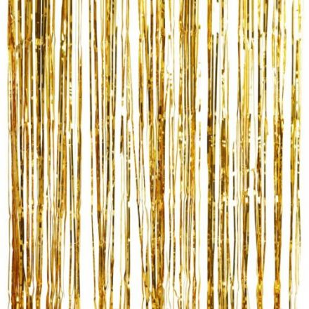 Gold Metallic Fringe Curtain Party Backdrop